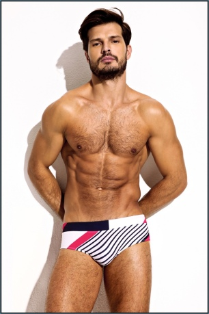 Charlie-Resort-2017-Collection-MZ4061-NAVY-PINK-WINDSAIL-SQUARE-CUT-BRIEF